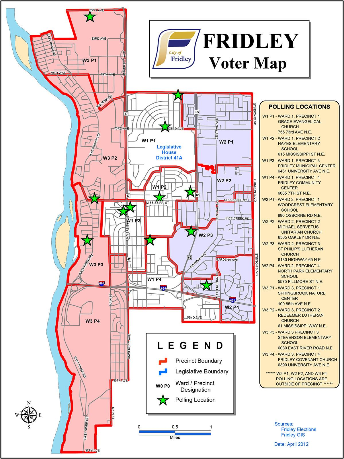 Fridley Voter Map