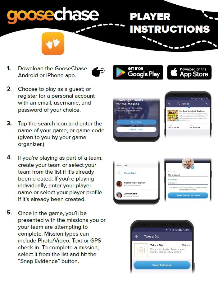 GooseChase Instruction Page 1