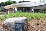 Front of interpretive center at Springbrook
